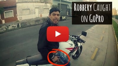 Watch how a Traveler on his way to being getting robbed by a Robber at Gunpoint captures the whole attempted Robbery incident live on his GoPro camera via geniushowto.blogspot.com busted robbery videos