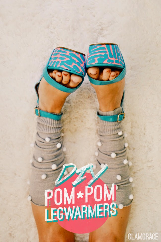 DIY: Up Cycled Pom Pom Leg Warmers