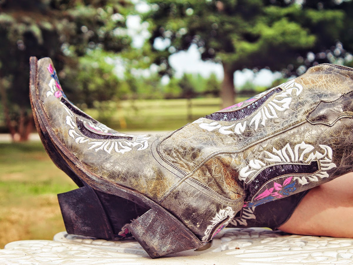 Types of shoes: Cowboy - Tipos de zapatos: Vaqueras