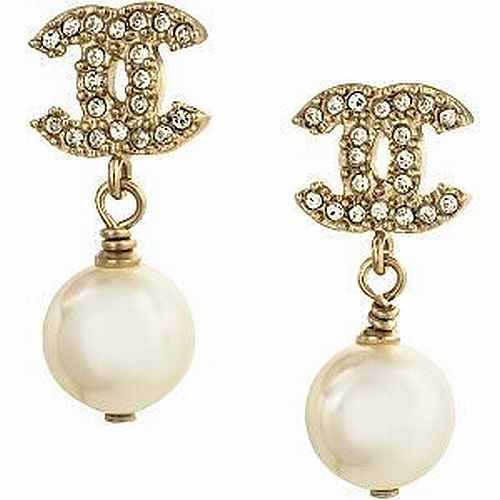 Chanel pearl and crystal earrings