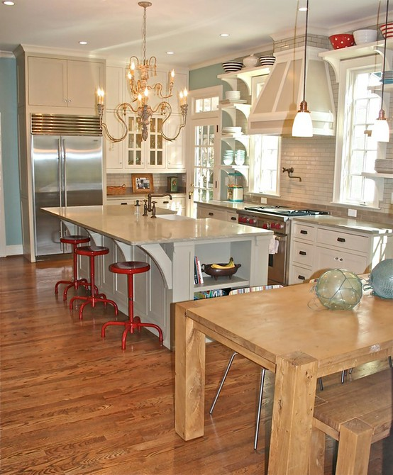 Benjamin Moore Wythe Blue Kitchen