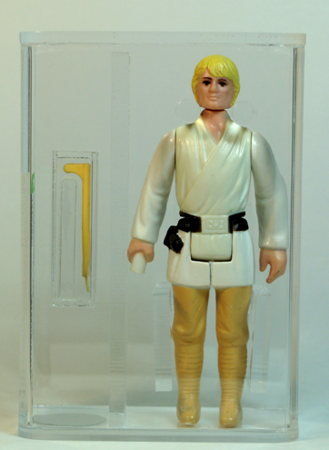 Star Wars Vintage Luke Skywalker Double Telescoping Saber AFA Graded 80
