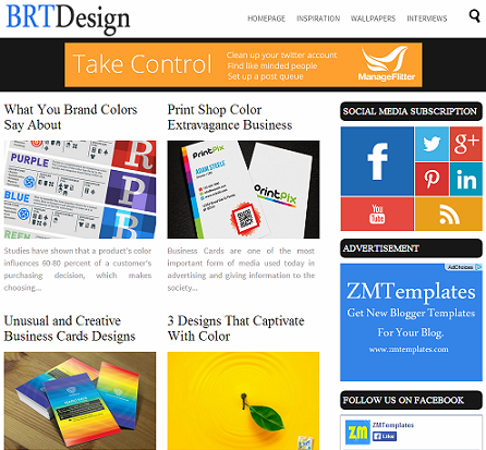 BRT Design Blogger Template