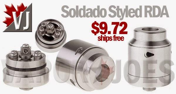 Soldado Styled 5 Post, Deep Well RDA with Adjustable Airflow