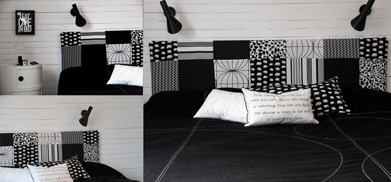 la maison d 39 anna g diy une t te de lit graphique. Black Bedroom Furniture Sets. Home Design Ideas