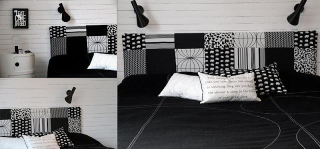 DIY: une tête de lit graphique
