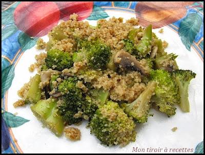 poêlée de brocolis à la semoule