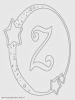 Mewarnai Gambar Huruf Alfabet Z Bergaya Bulan Bintang