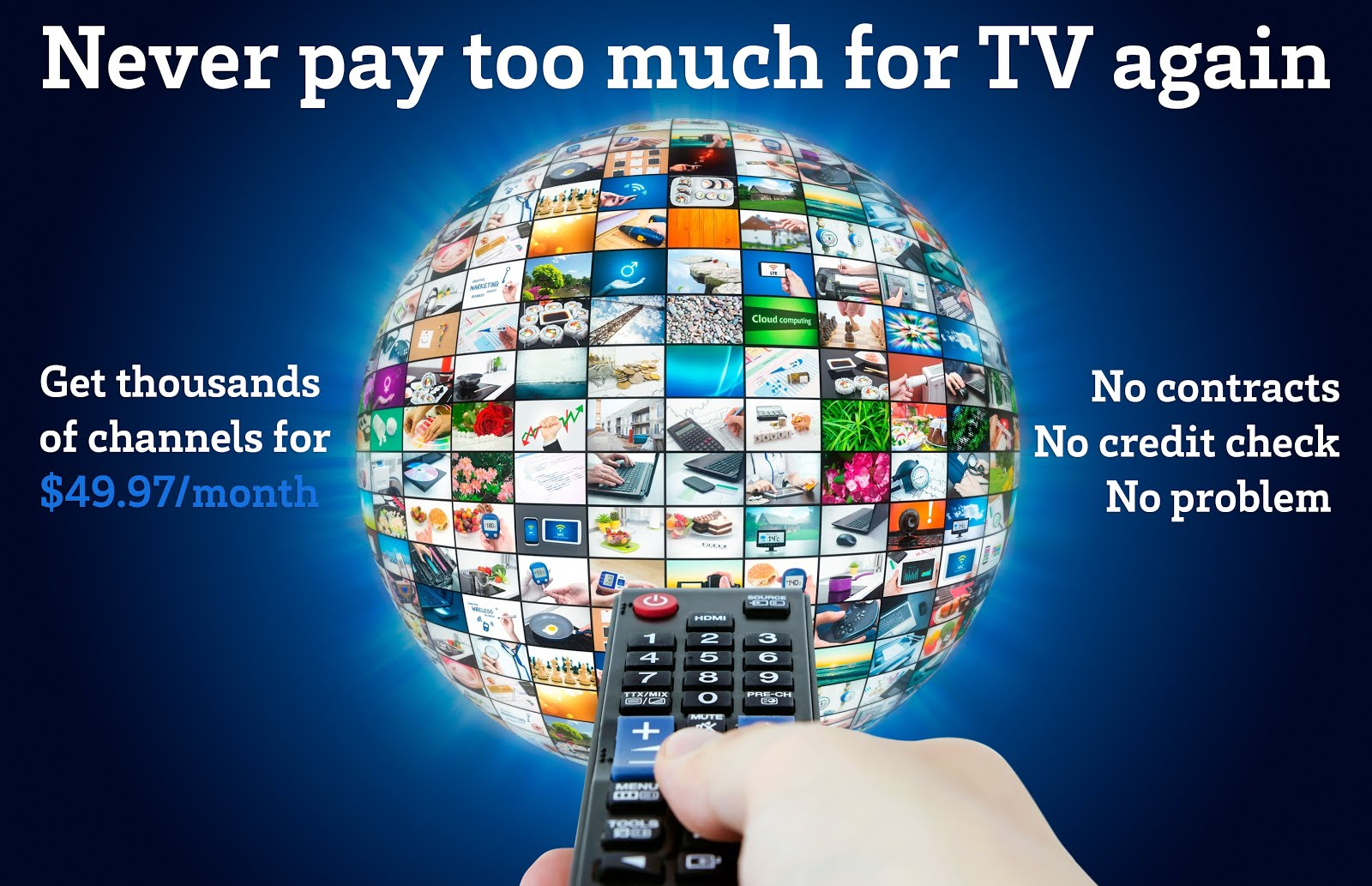 Over 1500 Channels...Sports, Movies, Pay Per View, Music, International, Kids and Much More!