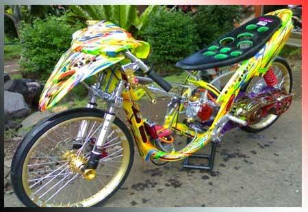 Gambar Modifkasi Drag Mio, Foto Modifikasi Drag Yamaha Mio