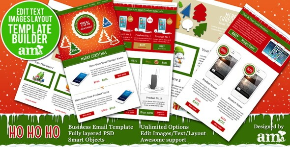 Holiday Business Email HTML With Builder