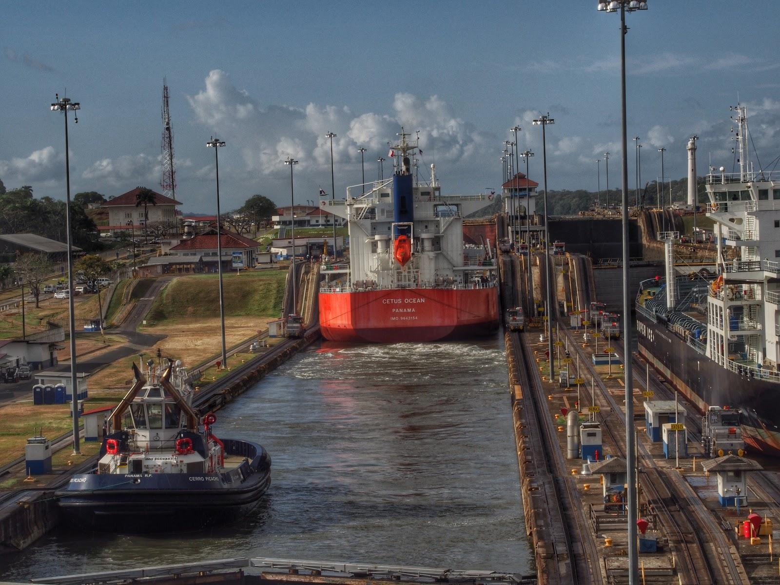 Panama Canal #PanamaCanal #HollandAmerica #cruise ©2014 Nancy Lundebjerg