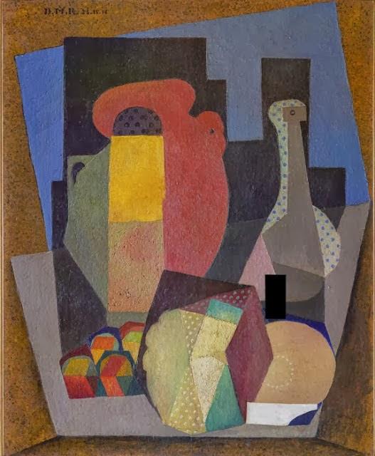 Diego Rivera, Naturaleza muerta con garrafa, 1916