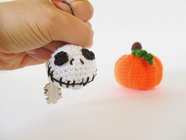 Free Crochet Pattern Of Jack Skellington : Halloween Jack Skellington Keychain - Little Things Blogged