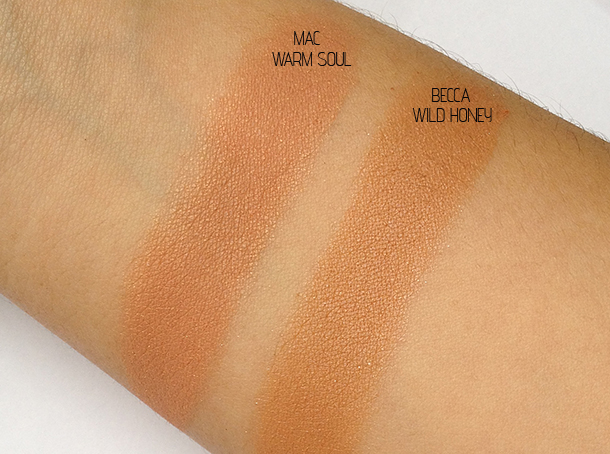 becca wild honey mineral blush swatch dupe