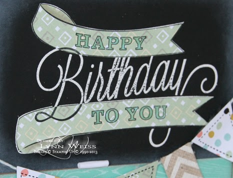 After Embossing The Birthday Banner Image In White On Basic Black I Felt It Needed Some Color And Extra Detail So Stamped Again Stazon Onto