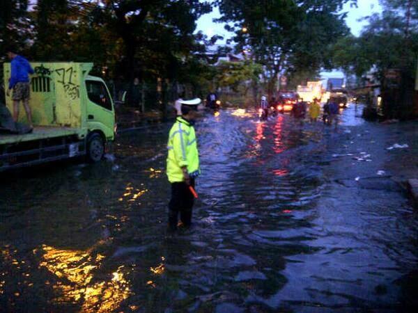 Muara Kapuk Jakut Masih Teredam Banjir