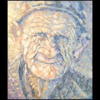 Иван КРУТОЯРОВ. Воспоминание о будущем. Портрет, философия, старость, старик, пастозная живопись, текстурная живопись, фактурная живопись, импасто, современная живопись, эскпрессивный импрессионизм