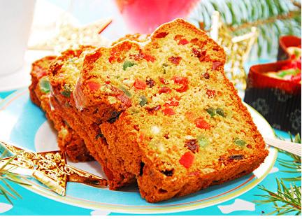 Kue Natal Cake Ceri dan Sukade