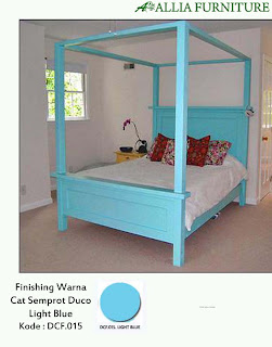 Contoh Furniture Semprot Duco Light Blue