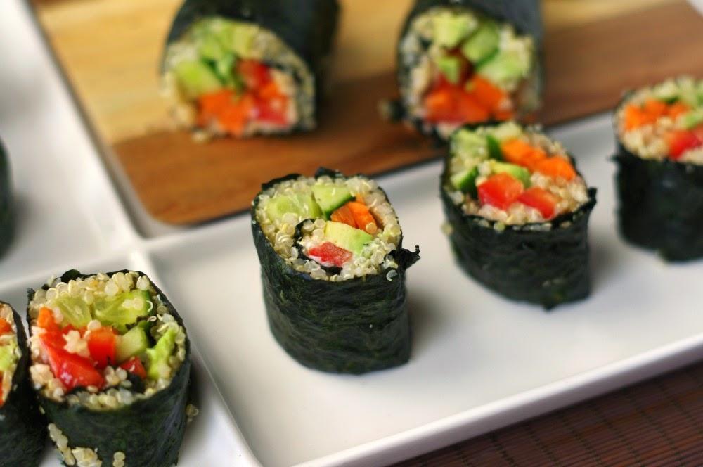 Vegetarian Quinoa Nori Rolls