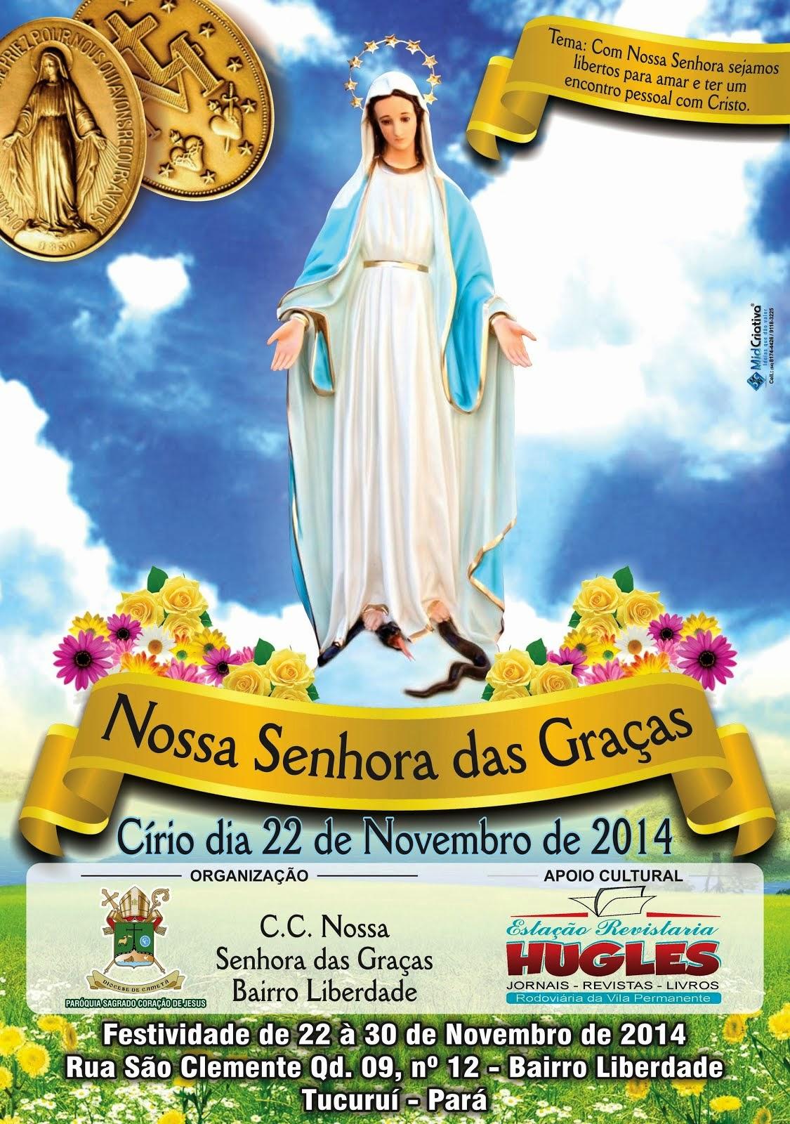 Círio de Nossa Senhora das Graças padroeira do bairro Luz e Liberdade de Tucuruí, neste sábado (22)