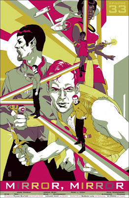 "Star Trek ""Mirror, Mirror"" Screen Print by Tomer Hanuka"