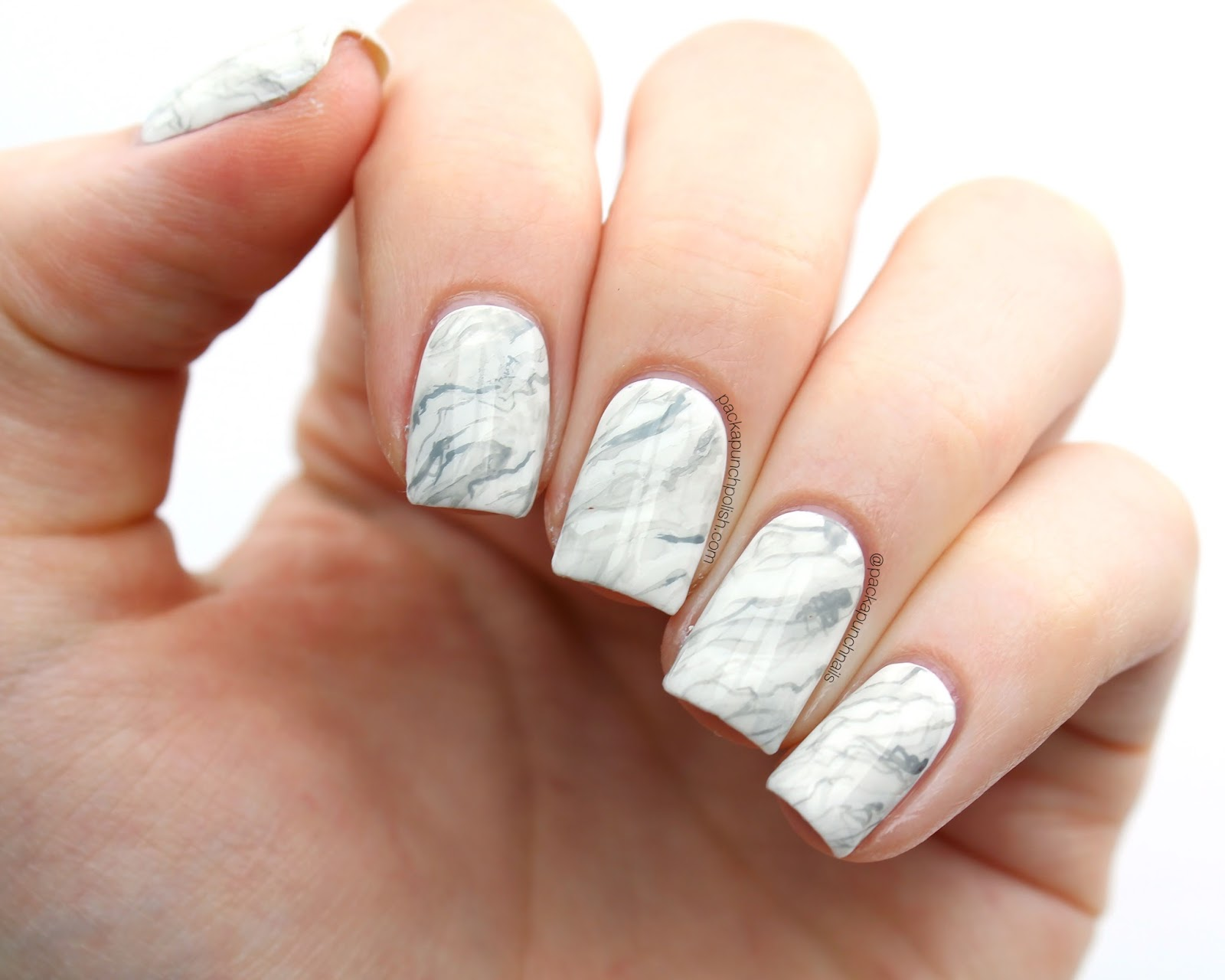 Packapunchpolish white marble nail art with tutorial white marble nail art with tutorial prinsesfo Choice Image