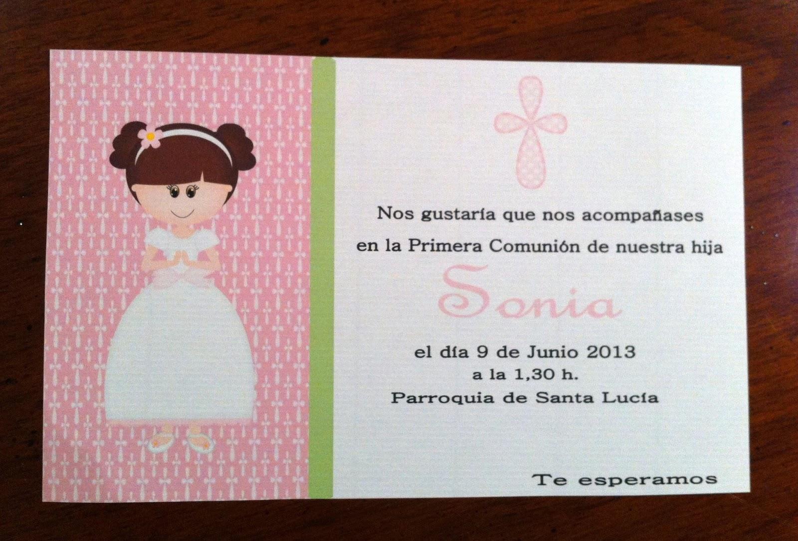 Las chuches de cleo invitaciones comuni n para imprimir - Como hacer tarjetas de comunion ...