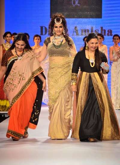 Raveena Tandon walked down the ramp for the Dipti Amisha show at IIJW 2014