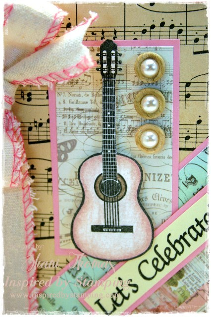 In Keeping With The Vintage Theme I Used Old Sheet Music As A Background And Pink Paislees London Market Paper Ribbon Is New But Looks Pleasingly