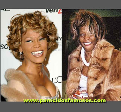 Whitney Houston antes y después