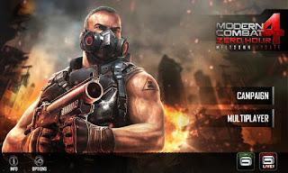 Cara Install APK Game Modern Combat 4 Zero Hour