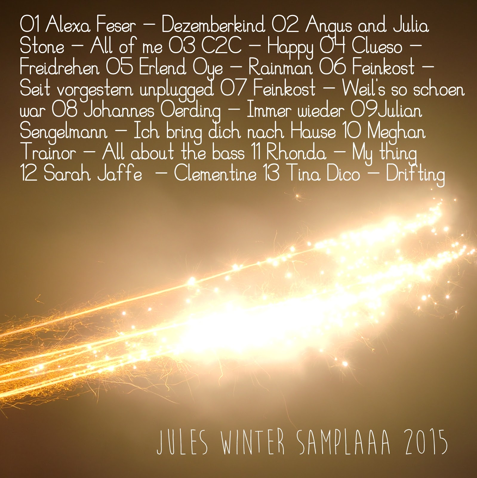 Jules Winter Samplaaa 2015 Playlist