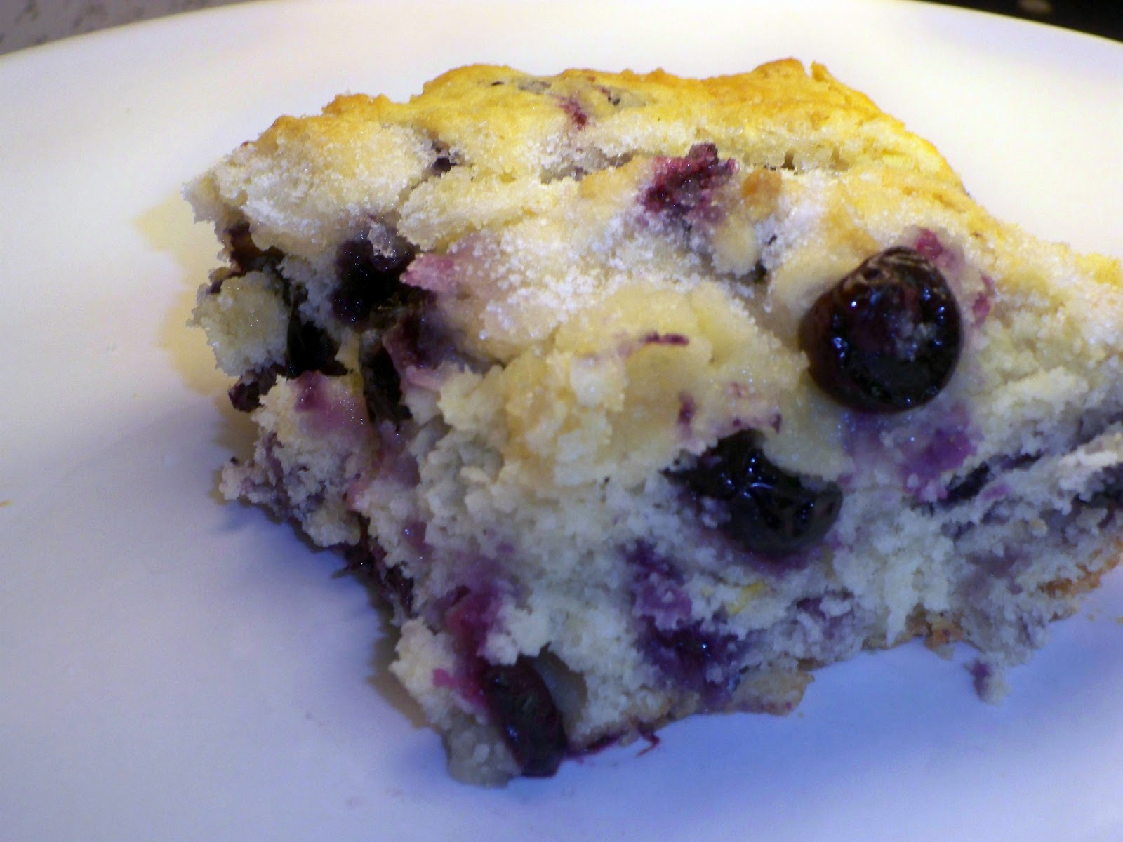 Gramma's in the kitchen: Buttermilk-Blueberry Breakfast Cake