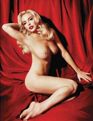 Lindsay Lohan fuera del motel desnuda