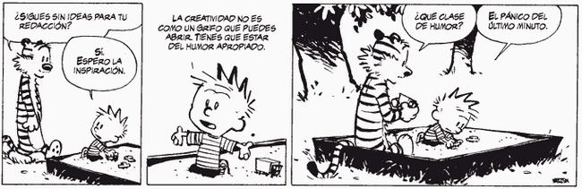 Calvin y Hobbes- Pánico de último minuto