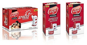 Good knight Xpress Combi (Machine + Refill) + pack of 2 refills for Rs.192 Only @ Amazon