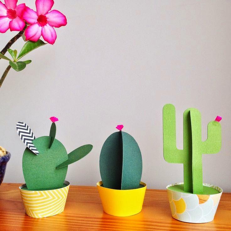 3d Craft Ideas For Kids Part - 46: Cactus Paper Craft Ideas