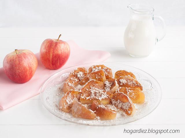 Manzanas al vapor