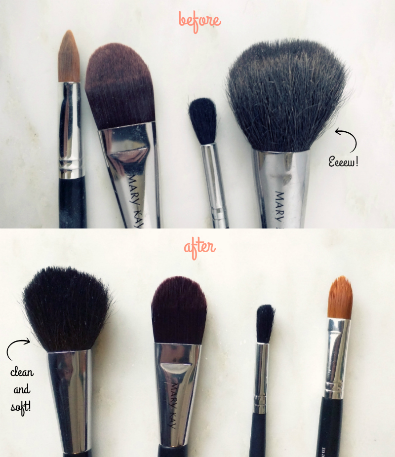 How to clean your makeup brushes with just 3 easy ingredients!