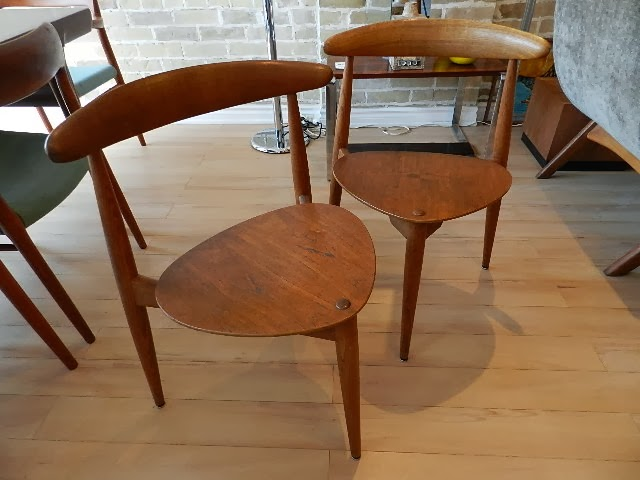 Hans Wegner Heart Chairs   Sold