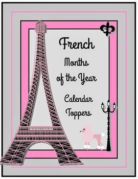 http://www.teacherspayteachers.com/Product/French-Months-of-the-Year-Calendar-Toppers-Freebie-460975