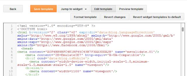 Blogger - Tidak bisa edit HTML pada Template Blogger
