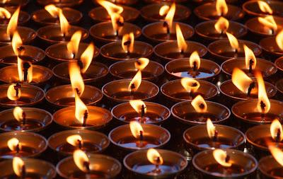 darjeeling losar tibet buddhist butter lamps
