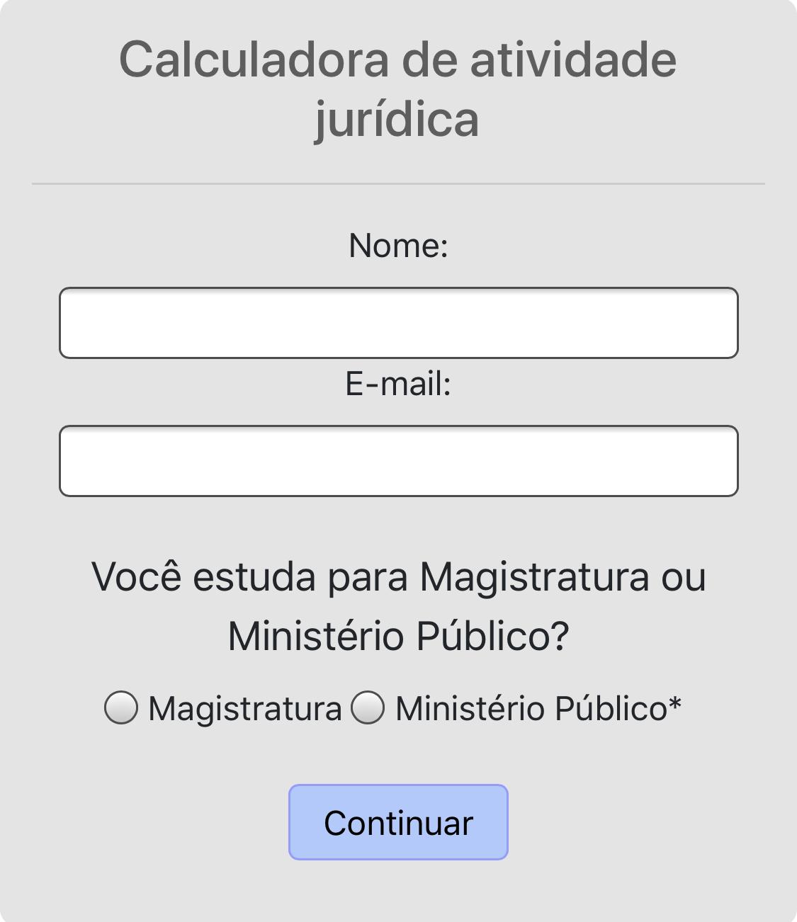 CALCULE SEU TEMPO DE ATIVIDADE JURÍDICA