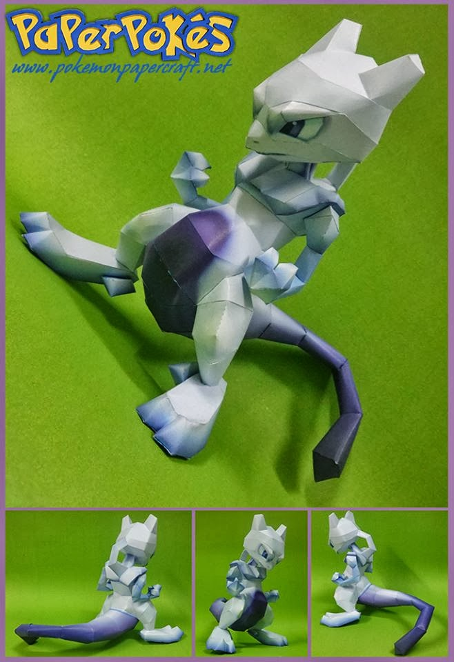 Mewtwo Paper Model