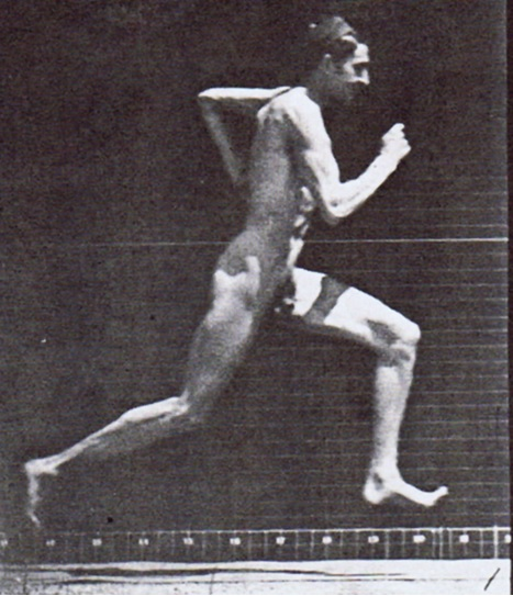 Man In A Cap With A Naked Torso Running Across The Ice Of