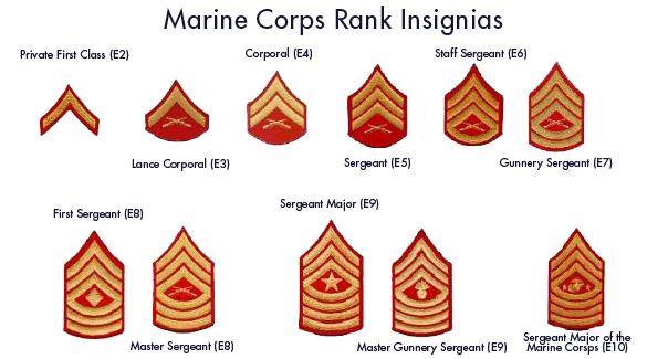 United States Marine Corps: USMC Rankings