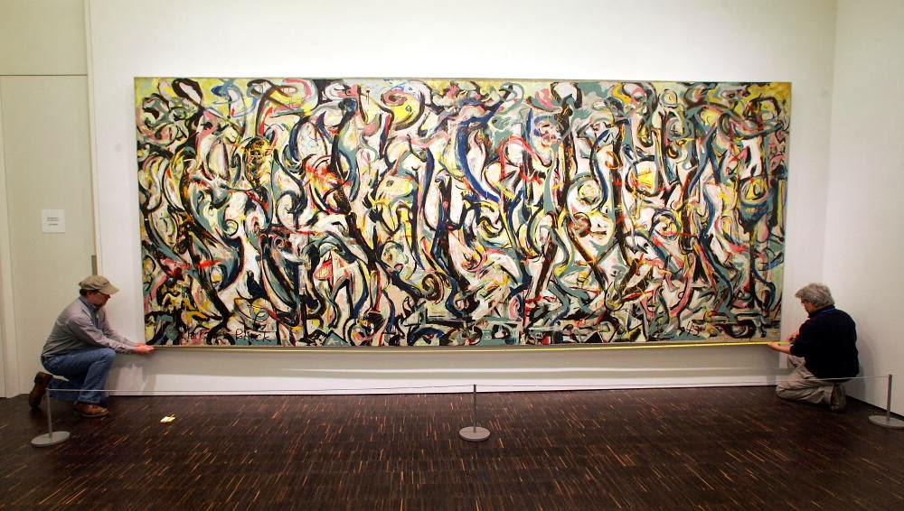 Christopher volpe 39 s art blog abstract musings for Mural jackson pollock